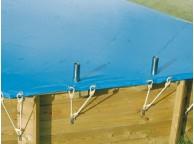 Bâche hiver pour piscine octogonal allongée 820x470cm