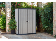 Armoire jardin resine haute - BROSSIUM- 1400L- Gris