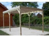 Carport Bois Autoclavé 15 m² Toit Plat - LEKINGSTORE
