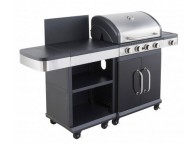 Barbecue à gaz FIDGI 4 brûleurs + DESSERTE