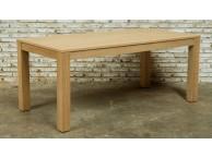 Table de repas EXTENSIBLE chêne massif KUBICO 8/10 personnes 180/235 x 90 x 76,5cm