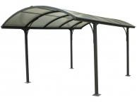 Carport Aluminium Avec Toit Rond 14,80 m2