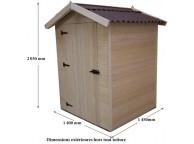 Abri de jardin en Bois 1.36 m² avec Plancher 16 mm L 120 x P 120 cm - LEKINGSTORE