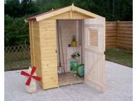 Abri de jardin en Bois 1.83 m² avec Plancher 16 mm L 160 x P 120 cm  - LEKINGSTORE
