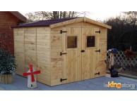 Abri de jardin en Bois 5.60 m² avec Plancher EDEN24 L 270 x P 267 cm - LEKINGSTORE