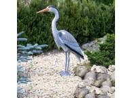 Héron Cendré pour Décoration de Bassin de Jardin - LeKingStore