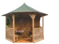 Pavillon de Jardin Octogonal de Luxe CHOPIN 9.60 m² 8 Faces - LEKINGSTORE
