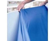 Liner Bleu 40/100ème pour piscine ovale 550x370xH122cm