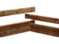 Madrier 1/2 droit Counter Flow 45 x 145 x 852.5 mm pour piscine bois rectangulaire UBBINK