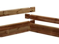 Madrier 1/2 gauche Counter Flow 45 x 145 x 1310 mm pour piscine bois rectangulaire UBBINK