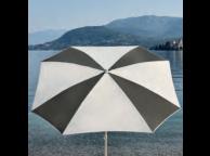 Parasol demi-carré bicolore MALTA - 100/8 cm - diam 200 cm