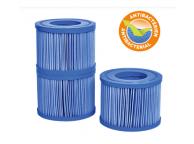Lot de 3 Cartouches de Filtration Antibactériennes pour Spa NetSPA