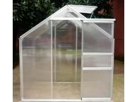 Serre de Jardin Structure Alu et Polycarbonate 2,50 m2 avec 1 fenêtre de toit - LEKINGSTORE