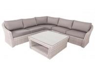 Salon de jardin CALYPSO avec un canapé d'angle