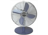 Ventilateur de table bleu diamètre 30 cm P: 37W