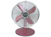 Ventilateur de table framboise diamètre 30 cm P: 37W