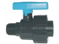 Raccord PVC Vanne A Boisseau diamètre 1cm / 0.5 cm - LEKINGSTORE