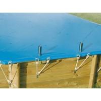 Bâche hiver pour piscine octogonale allongée UBBINK 490x300cm