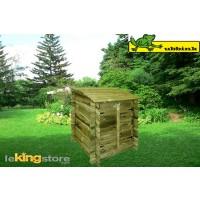 Coffre de Filtration Piscine  CLASSIC Bois Imprégné UBBINK 117.5x120x100cm