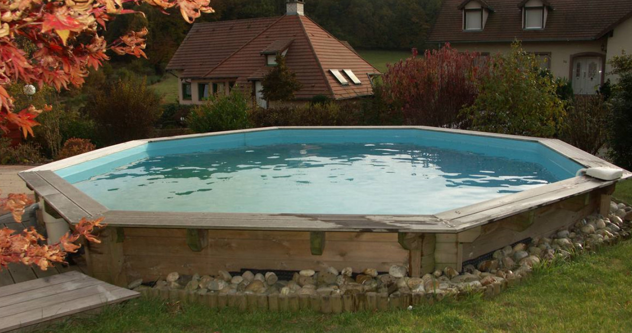 Piscine bois sunwater ronde en kit 360x120 piscineindustrie for Piscine bois en kit