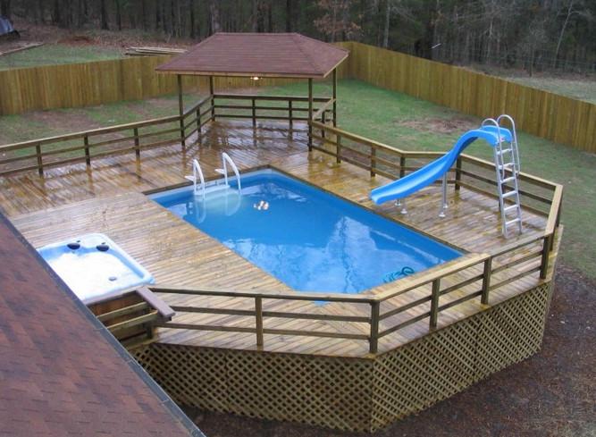 Kit piscine bois hors sol rectangulaire luxe 425 x 325 x 130 cm decouvrez tous nos kit piscine - Piscine hors sol luxe ...