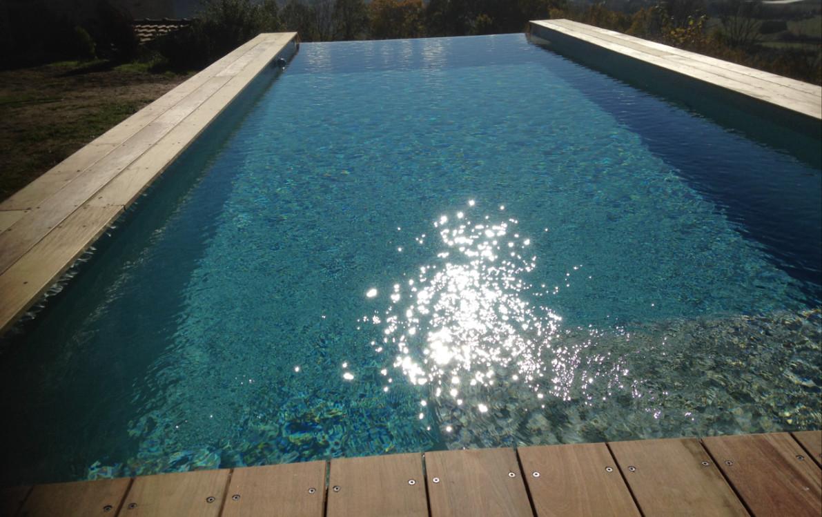 Kit piscine bois rectangulaire d bordement luxe 6x3x1 45 for Kit piscine bois rectangulaire