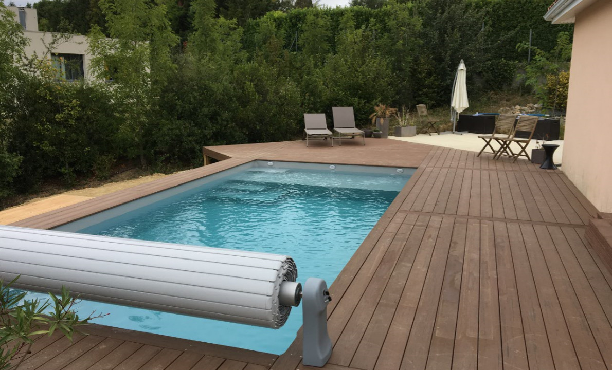 Kit piscine bois rectangulaire d bordement luxe 10x4x145 for Piscine bois debordement