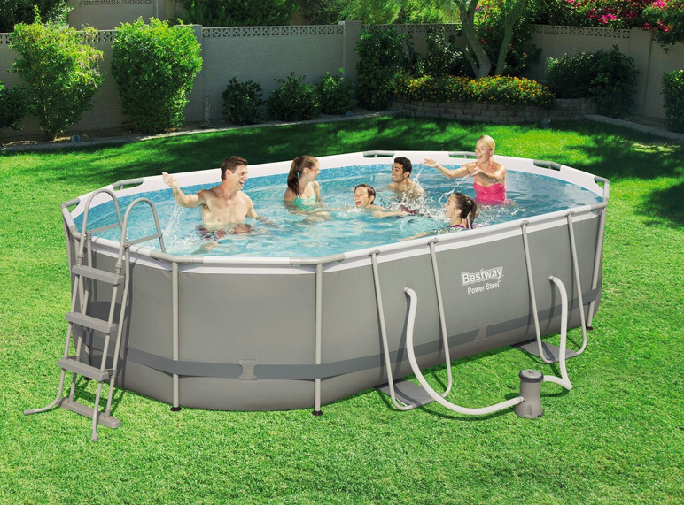 Piscine Tubulaire Ovale Frame Pools Best Way Power Steel  X  X