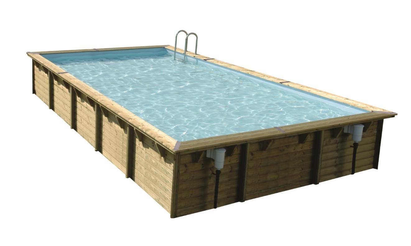 Piscine bois nortland ubbink linea 800 x 500 x 140 cm for Montage liner piscine bois