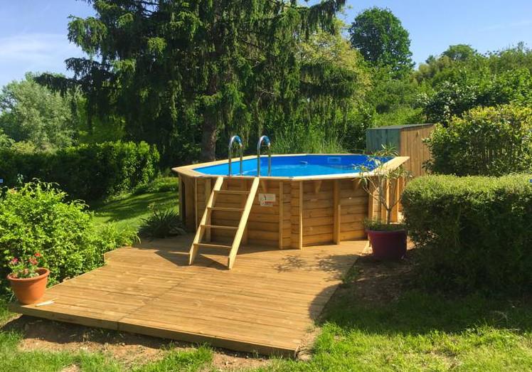 piscine bois tonga nortland ubbink allongee en kit 610 x. Black Bedroom Furniture Sets. Home Design Ideas