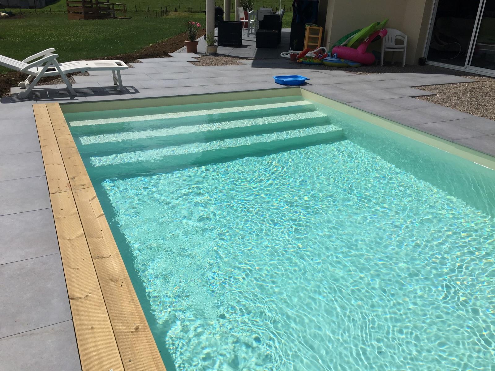 Kit piscine bois hors sol rectangulaire luxe 620x420 x 130 for Kit piscine bois rectangulaire