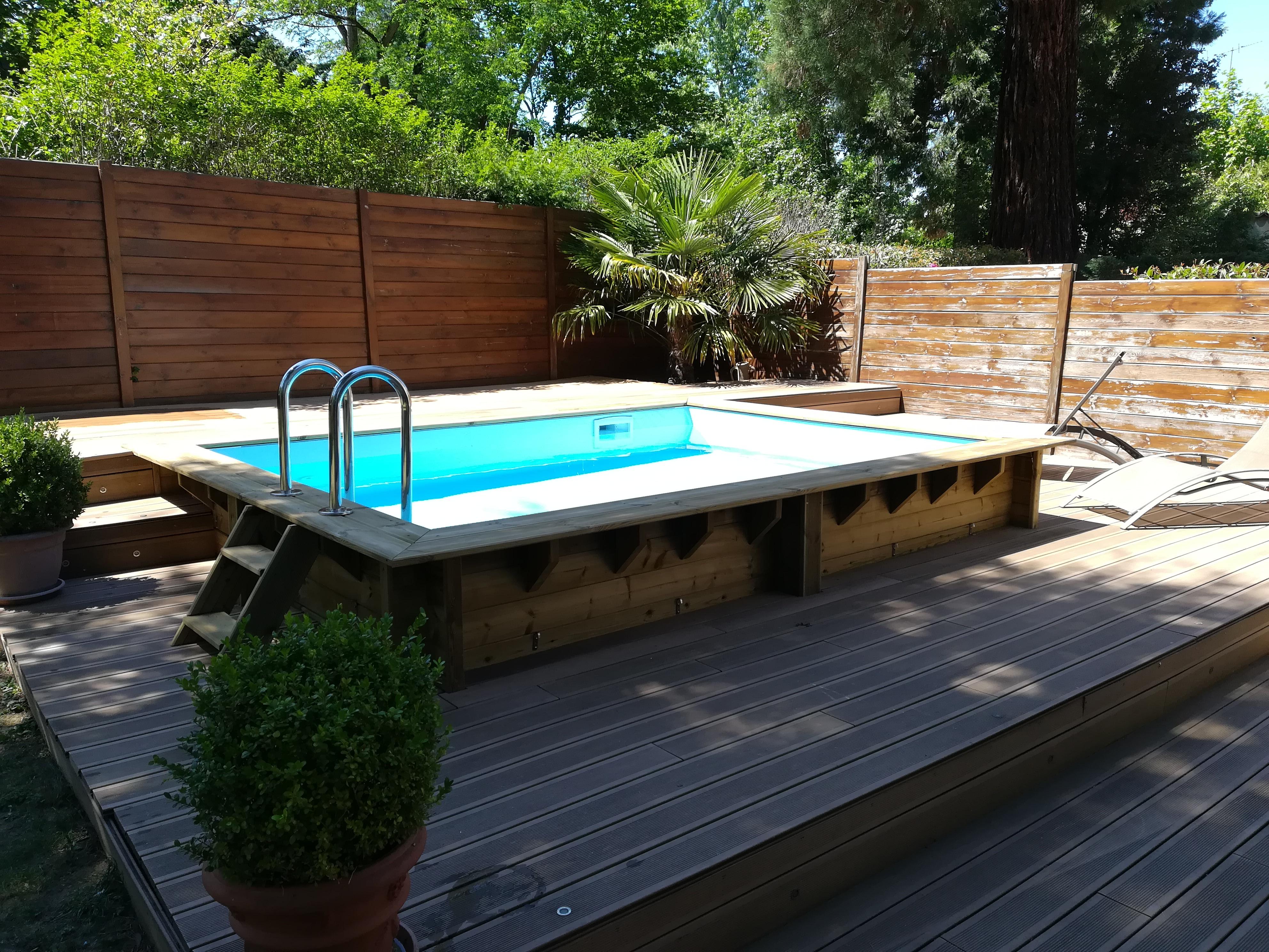 Piscine En Bois Petite Taille piscine bois hors sol rectangulaire luxe 420x320x131cm